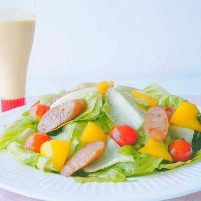 ロメインレタスと彩り野菜のマヨネーズソテー