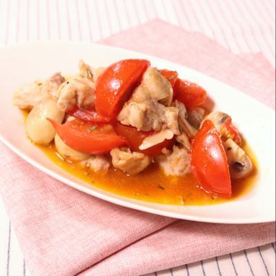 鶏肉のローズマリートマト焼き