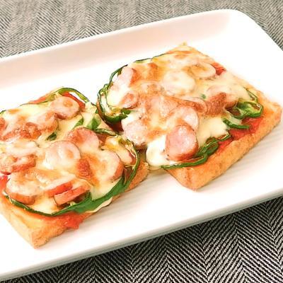 トースターで簡単 厚揚げで作るピザ