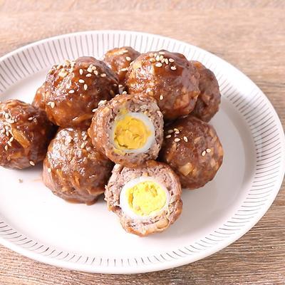 ごぼうがおいしい ウズラの卵入り肉団子