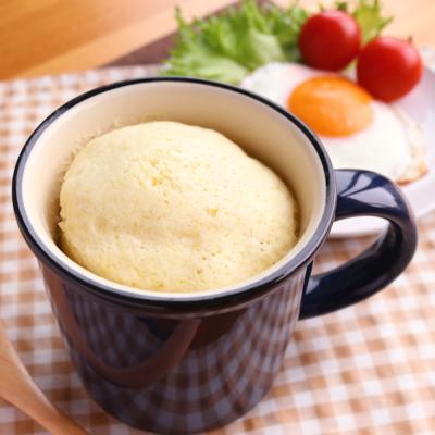 朝ごはんにぴったり HMで簡単マグカップ蒸しパン
