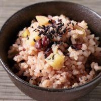 さつまいもとあずきの玄米炊き込みご飯