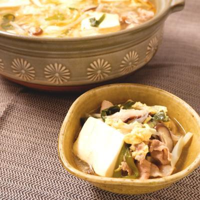 サンラータン風味のピリ辛鍋