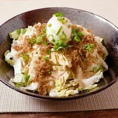 白菜の和風シーザーサラダ風