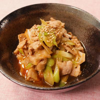ご飯が進む!豚肉とねぎのピリ辛炒め