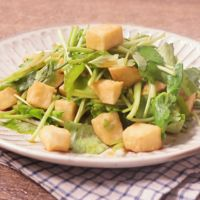 揚げ焼き長芋と三つ葉の和えサラダ