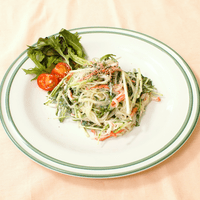 簡単!水菜と春雨のかにかまマヨサラダ