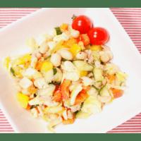 大豆の水煮とザクザク野菜のサラダ