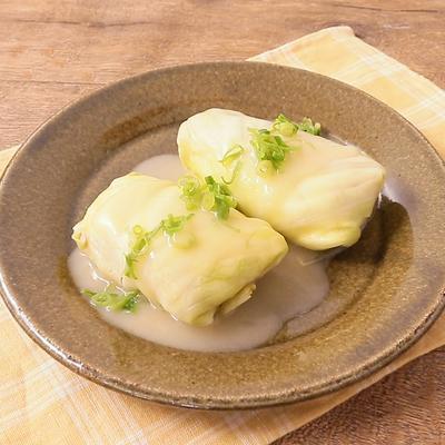 レンジでふわふわ塩バターロールキャベツ