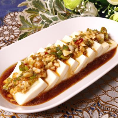 簡単で美味しい!豆腐の中華香味ソースがけ