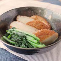 さつま揚げと小松菜の簡単煮物