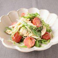 水菜とささみの白みそゆずこしょうサラダ