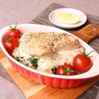 熱々ジューシー!鶏むね肉とクリームチーズのパン粉焼き