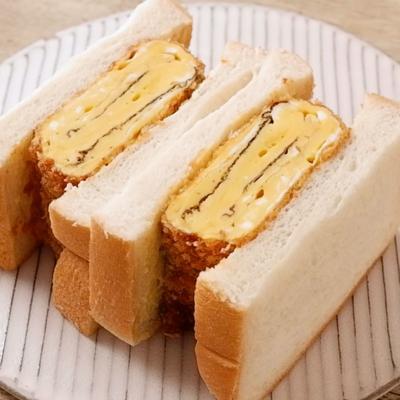 だし巻き卵フライのサンドイッチ
