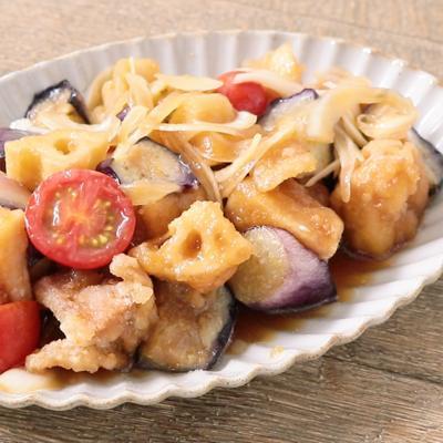 野菜たっぷり 鶏もも肉とゴロゴロ野菜の南蛮漬け