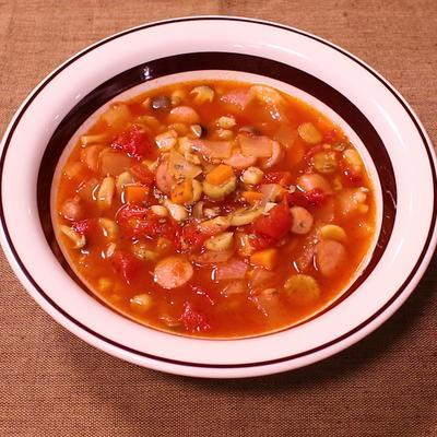残り野菜活用!スパイシートマトスープ