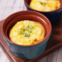 枝豆とクリームチーズのココットオムレツ