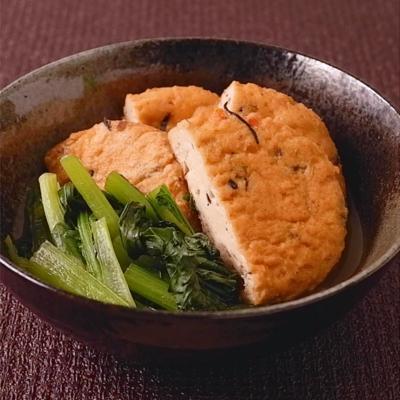 さっと簡単 小松菜とがんもどきの煮物