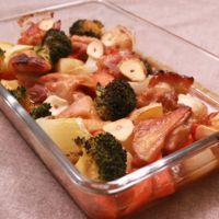 ごろごろ野菜と照り焼きグリルチキン