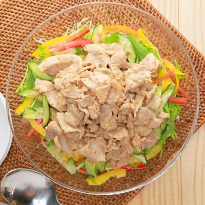 ごまドレッシングで食べる 豚しゃぶサラダ