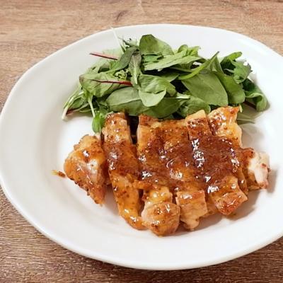 鶏もも肉のハニーマスタードソテー