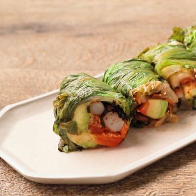 韓国風サニーレタス巻きサラダ