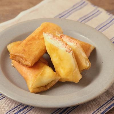 包丁いらず クリームチーズと明太子の春巻き