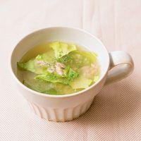 レタスとツナのコンソメスープ