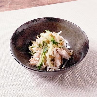 鶏ささみともやしの寿司酢和え