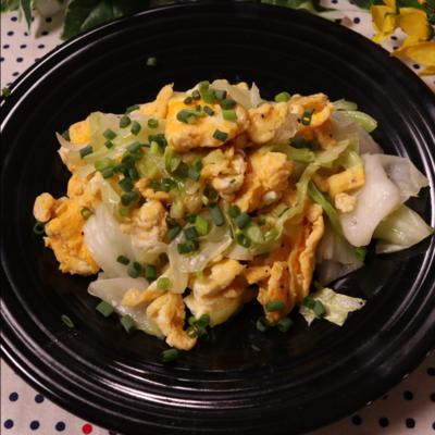 卵 炒め キャベツ