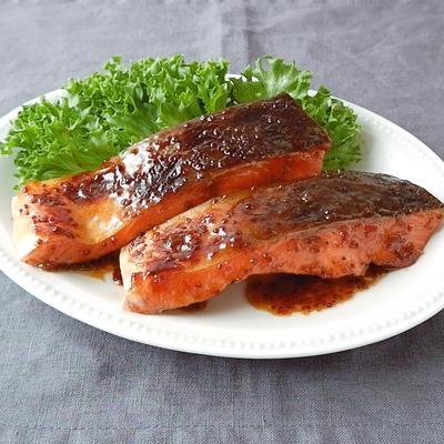 下味冷凍 鮭のハニーマスタード焼き