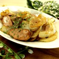 魚肉ソーセージで簡単!\nジャーマンポテト