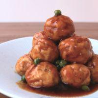 豆腐でふわふわ甘酢鶏団子