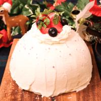 オーブン要らず!簡単可愛い!ベリードームケーキ