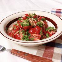 パセリ大量消費 ミニトマトとパセリの和えサラダ