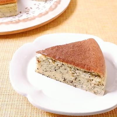 スライスチーズでつくる 紅茶スフレチーズケーキ