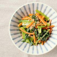 レンジで簡単 小松菜とにんじんのピリ辛和え
