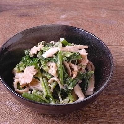 かき菜とまいたけの明太マヨ和え