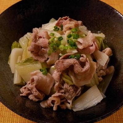 白菜漬けと豚バラのこっくり煮