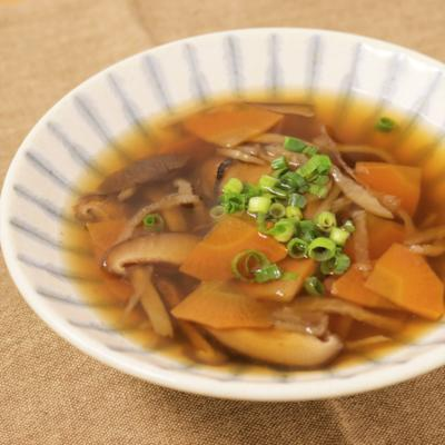 切り干し大根のほうじ茶スープ
