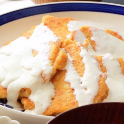 豆腐と鮭のハンバーグ風