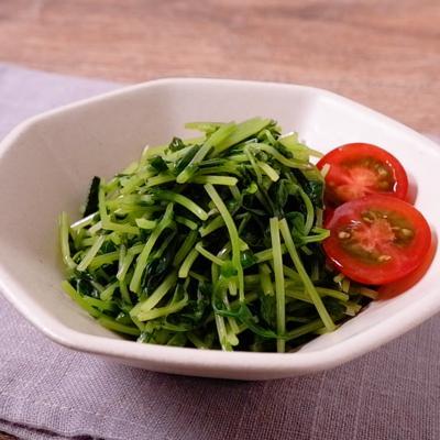 レンジレシピ 豆苗のナムル