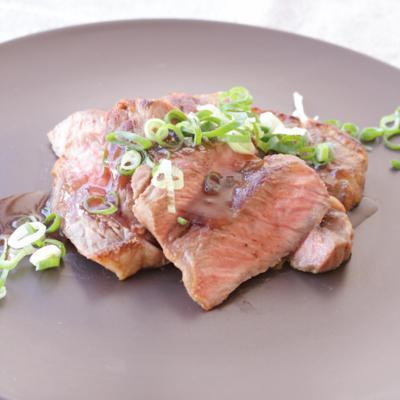 簡単わさびソースで食べる ステーキ