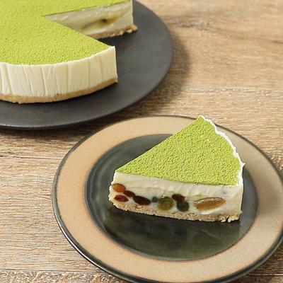 甘納豆のレアチーズケーキ
