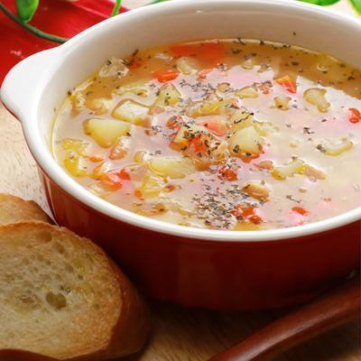 具だくさんのスコッチブロス風スープ