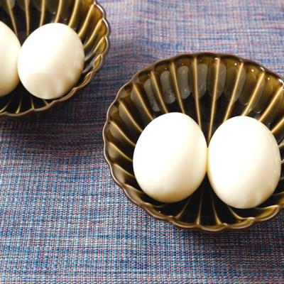 シンプル 塩味のゆで卵