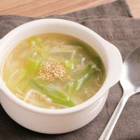 えのきと長ねぎの生姜スープ