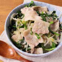 焼き肉のタレで簡単 スタミナ塩豚バラ丼