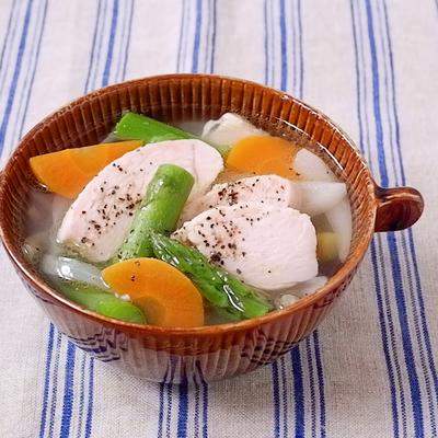 野菜たっぷり サラダチキンスープ