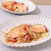 しっかり辛い 北海道秋鮭の韓国風ちゃんちゃん焼
